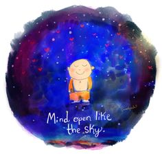 Open your mind like skyClick the link now to find the center in you with our amazing selections of items ranging from yoga apparel to meditation space decor! Tiny Buddha, Little Buddha, Buddha Zen, Buddah Doodles, Reiki Quotes, Buddha Thoughts, Buddha Wisdom, Buddha Sayings, Little Lotus