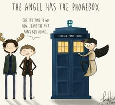 not only is this Superwhovian but look at Sam's moose antlers!!!!!!!!!!!