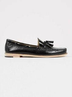 Oscar Black Smart Leather Tassel Loafers - Men's Dress Shoes - Shoes and Accessories - TOPMAN USA