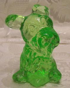 Pottery & Glass Ingenious Fenton Emerald Gree Figurines