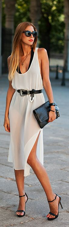 Chic in Black & Sheer White