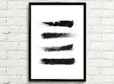 Digital Download Only. No physical print or frame included. Minimalist Abstract Print Brushes  Our digital set of printable art typography include 5