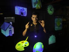 """[Video] This demo -- from Pattie Maes' lab at MIT, spearheaded by Pranav Mistry -- was the buzz of TED. It's a wearable device with a projector that paves the way for profound interaction with our environment. Imagine """"Minority Report"""" and then some."""