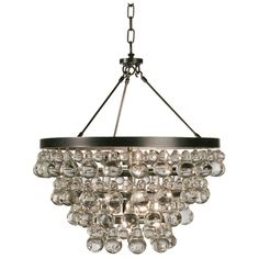 Robert Abbey Bling Chandelier with Convertible Double Canopy