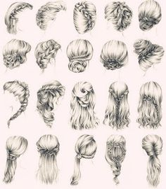 40 easy drawings – drawing tip drawing hair tutorial hair styles art how to draw cartoons hair drawn hair hair art hairstyles sketches drawing drawing styles How To Draw Hair, How To Draw Braids, How To Braid, Wedding Updo, Party Wedding, Braided Wedding Hair, Summer Wedding, Wedding Ceremony, Wedding Gifts