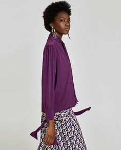 Image 4 of BOW BLOUSE from Zara Bow Blouse, Zara, Spring Summer, Bows, Skirts, How To Wear, Outfits, Women, Outfit Ideas