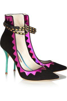 Sophia Webster Roka iridescent leather and suede pumps NET-A-PORTER.COM