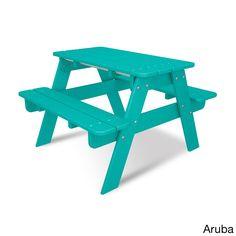 Polywood Kids Picnic Table (Aruba), Yellow (Plastic)