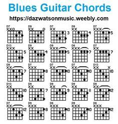 blues chords for guitar Guitar Power Chords, Blues Guitar Chords, Guitar Chords And Scales, Acoustic Guitar Chords, Music Theory Guitar, Learn Guitar Chords, Guitar Chords Beginner, Easy Guitar Songs, Guitar Chords For Songs