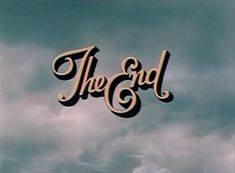 old-fashioned movie The End