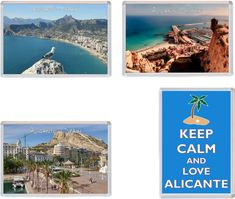 Alicante – Costa Blanca – Spain – 4 PACK – Jumbo Fridge Magnet Souvenir Gift Present Photo Dimensions, Alicante Spain, Wish You Are Here, Keep Calm And Love, Image Shows, 3d Printing, Magnets, Places To Visit, Rustic