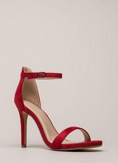 df19792deac98 RED Ankle strap heels Ankle Strap Heels
