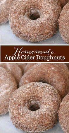 Donut Recipes, Baking Recipes, Dessert Recipes, Fried Cake Doughnut Recipe, Apple Cider Doughnut Recipe, Baking Hacks, Dessert Ideas, Homemade Donuts, Homemade Recipe