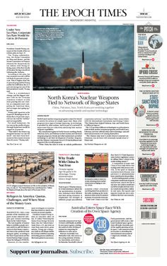 North Korea's Nuclear Weapons Tied to Network of Rogue States The Epoch Times #newspaper #editorialdesign