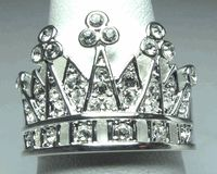 Kim Crown Ring Miss America, Queen, Austrian Crystal, Stones And Crystals, Jewelry Rings, Royalty, Silver Plate, Sterling Silver, Crown Rings