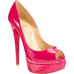 Christian Louboutin Lady Peep - Hot Pink size 8.5 found on Polyvore