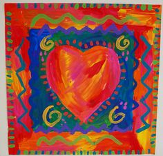 heart painting - jim dine / warm and cool colors