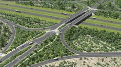 optimizing SketchUp performance. Rich, complex models and renders. Road interchange modeled in SketchUp and rendered in Lumion. (Dan Tal and Justin Clark)