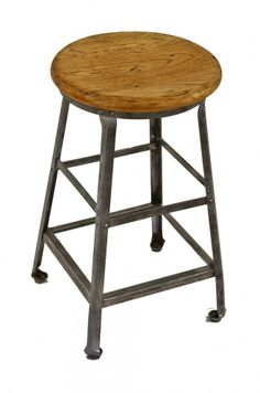 Benches & Stools Furniture Frank Pair Of Vintage Industrial Angle Steel Co Stools Metal From A Chevy Plant