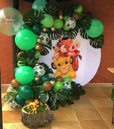 Lion King Theme, Lion King Party, Lion King Birthday, Baby Boy 1st Birthday Party, Jungle Theme Birthday, Jungle Party, Lion King Baby Shower, Le Roi Lion, Baby Shower Decorations For Boys