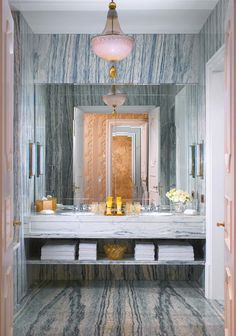 marble and pink accents at the Gritti Palace
