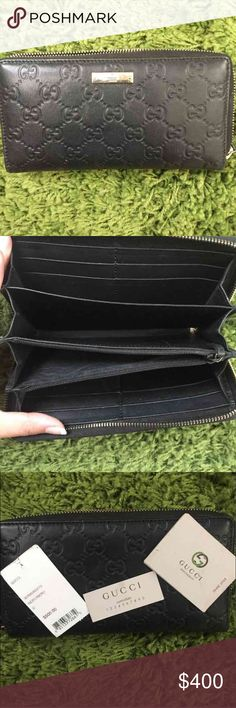 Gucci wallet Never used. Was a gift but I already like the wallet I have currently. 100% authentic. Check the tags on the pics for original price and such Gucci Bags Wallets