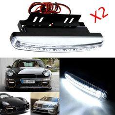 2 Sztuk 12 V 8 W 8LED Waterproof Zewnętrzne Led Światła Do Jazdy Dziennej Car Styling Samochodów Źródło Światła Przeciwmgielne Bar Lampa Biały Darmo wysyłka