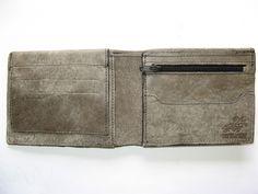 SMOOTH GREY -men's leather wallet (No. 314). $44.00, via Etsy.