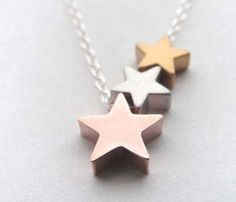 Just in case you're the more playful type: Star Trio Necklace