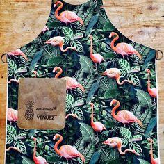 "ApronStudio on Instagram: ""Ready to go to: Venuez 2017 #flamingo #tiki #apron #hospitality #summer2017🌴#venuez2017 #antwerpen #apronstudio"" Ready To Go, Copper Color, Hospitality, Flamingo, Apron, Prints, Instagram, Flamingo Bird, Flamingos"