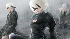 NieR Automata Game Art Characters Wallpaper