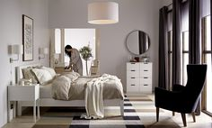 Order or view the latest version of the IKEA catalogue in print, online or in the IKEA catalogue app. Links to IKEA brochures for kitchens, wardrobes, living room storage and curtains and panels are also included. Queen Bedroom, Bedroom Sets, Home Bedroom, Bedroom Furniture, Home Furniture, Bedroom Decor, Bedroom Wall, Modern Bedroom, Master Bedrooms