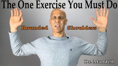 Fix Rounded Shoulders & Poor Posture: The One Exercise Muscle You Must Strengthen - Dr Mandell, DC Posture Stretches, Posture Fix, Good Posture, Improve Posture, Perfect Posture, Rounded Shoulder Exercises, Shoulder Stretching Exercises, Back Pain Exercises, Shoulder Pain Relief