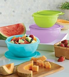 A classic Tupperware container, our Wonderlier® Bowls are all-purpose bowls with liquid tight seals. What will you be storing in your bowls?