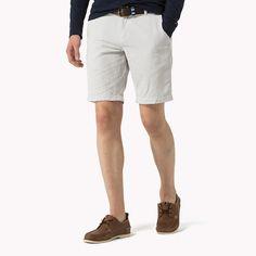 Tommy Hilfiger Cotton Linen Blend Shorts - micro chip-pt (Grey) - Tommy Hilfiger Shorts - main image