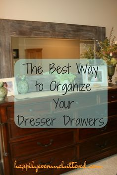 Happy Monday, you guys! What better way to start off the week than with some organization tips from someone who is actually organized? My friend Crystal from Happily Ever Uncluttered is teaching you how to organize your dresser drawers today. You may or may not have heard me say in the past that I am... Read More »