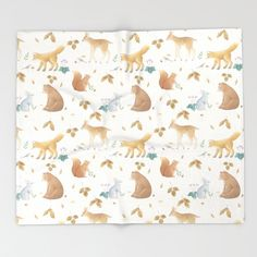 Buy AutumnForest1 Throw Blanket by ekkoprintables. Worldwide shipping available at Society6.com. Just one of millions of high quality products available. #babyblanket #woodland #woodlandnursery #nursery #animals #cuteanimals #baby #nurseryideas #nurserydecor Woodland Nursery, Nursery Decor, Print Design, Cute Animals, Blanket, Baby, Crafts, Stuff To Buy, Products