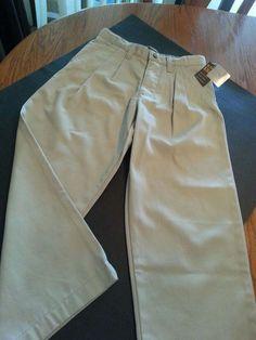 New Cherokee Boys' Ultimate Khaki Tan Pant Sz 7 School Dress Uniform NWT Cotton #Cherokee #KhakisChinos #Everyday
