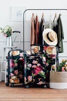 TRAVEL IN STYLE with CALPAK's Floral Suitcase