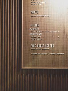Cafe menus