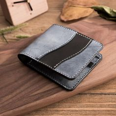 Handmade Leather Mens Cool Slim Leather Wallet Men Small Wallets Bifold for Men Custom Leather Wallets, Personalised Leather Wallet, Gents Wallet, Small Leather Wallet, Leather Bag, Simple Wallet, Buy Wallet, Buy Bags, Leather Projects