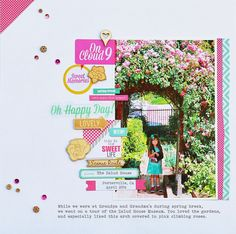 #papercraft #scrapbook #layout.  On Cloud 9 by Mary Ann Jenkins for Chic Tags
