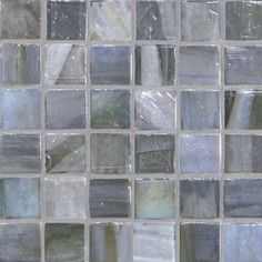 Agate 1 x 1 Moasic / Color - Lucca Pearl Glass Tile Backsplash, Tiles, Thing 1, Grey Kitchen Cabinets, Kitchen Upgrades, Brick Patterns, Weathered Oak, Bathroom Renos, Colored Glass