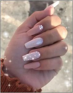 In look for some nail designs and ideas for your nails? Here's our set of must-try coffin acrylic nails for trendy women. Diamond Nail Designs, Pink Nail Designs, Acrylic Nail Designs, Nails Design, Pink Acrylic Nails, Purple Nails, Gel Nails, Manicures, Coffin Nails