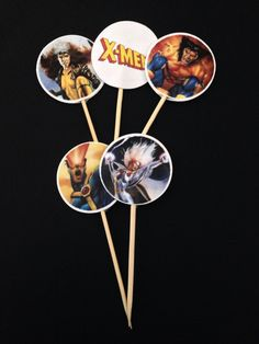 Xmen cupcake/cake toppers 15 pcs  party birthday by NatraLight01, $5.95