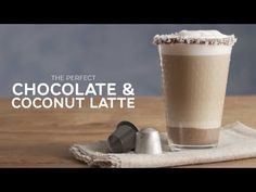 The indulgent combination of Nespresso Ciocattino Variation, hazelnut chocolate spread and fresh coconut makes this latte the perfect Summer treat. Chocolate Spread, Chocolate Hazelnut, Iced Vanilla Latte Recipe, Nespresso Lattissima, Coconut Recipes, Summer Treats, Meals For One, Food Videos, Smoothies