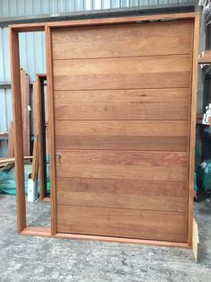 We carry a huge range of solid timber front doors & our on-site joinery can cust. - We carry a huge range of solid timber front doors & our on-site joinery can custom make anything to order. We deliver Australia-wide, call 07 5453 Modern Entry Door, Front Door Entryway, Front Door Handles, Entry Doors With Glass, Entrance Doors, Front Door Decor, Timber Front Door, Unique Front Doors, Iron Front Door