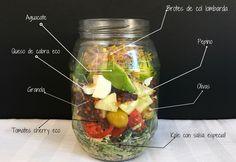 Ensalada César vegetariana con kale, tomate, aguacate, brotes, pepino, olivas. Delcioso, fácil y saludable