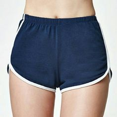 """Brandy melville royal blue retro track shorts John Galt creates a soft, retro-inspired look in the Contrast Trim Track Shorts. A royal blue pair of track shorts receives white contrast binding along the side seams and hemline, and a comfy elasticized waist.  White binding along the side seams and hemline Elasticized waist One size (fits size x-small/small) Model's measurements: Height: 5' 9.5"""" Bust: 34"""" Waist: 24"""" Hips: 34"""" 65% polyester, 35% rayon Hand or machine washable Made in USA Brandy…"""