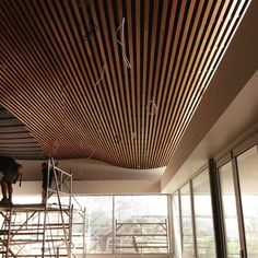 Wave motion #timber ceiling constructed by #coastruct whilst building @jackrabbitvineyard restaurant on the #bellarinepeninsula @mattyjsurf by coastruct.carpentry http://ift.tt/1JO3Y6G